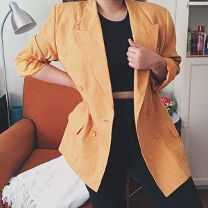 Oleg Cassini Jackets & Coats - Oleg Cassini Vintage Yellow Mustard Blazer Jacket